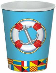 Nautical Sea Boat Ocean Sailing Theme Birthday Party 9 oz. Paper Cups