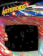 "TIN SIGN ""Asteroids""  Video Games Art Deco Garage Wall Decor"