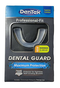 DenTek Mouth Guard for Teeth Grinding Professional-Fit Max Protection New Sealed