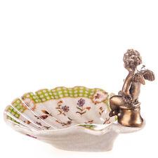Soap Dish Angel Porcelain Bronze Soap Tray Antique Vintage Seashell 20246A