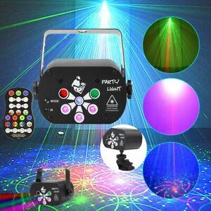 128 Pattern Laser Stage Light Lighting RGB UV LED Disco Party KTV Bar Projector