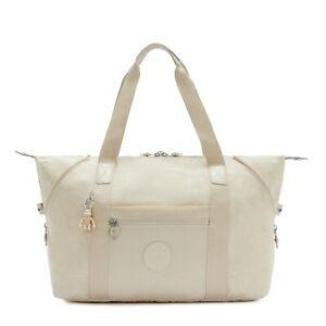 Kipling Large Travel Bag ART M Shoulder Bag DYNAMIC IVORY Fall 2020 RRP £96
