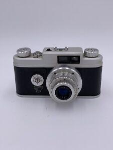 Vintage Argus Camera W/ f/3.5 50 mm Argus Coated Cintar Lens & Leather Case