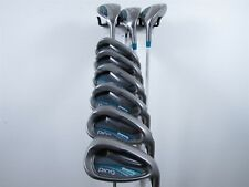 "Ping Golf Rhapsody Combo Set 4H,5H,6H,7-PW,UW,SW Ladies Graphite Shafts -1/2"""