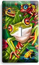 EXOTIC RAINFOREST TROPICAL TREE FROGS SINGLE LIGHT SWITCH PLATE COVER ROOM DECOR