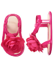 Gymboree Spring Vacation Pink Sandals with Flowers Baby Girl Size 18-24 Months