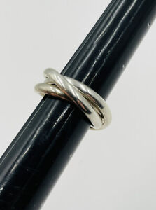 Tiffany & Co. Authentic Sterling Silver Interlocking Rolling Ring Size 6