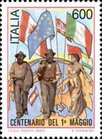 # ITALIA ITALY - 1990 - Centenary 1° Maggio - Painting Quarto Stato - Stamp MNH