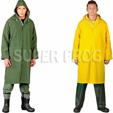 Raincoat Waterproof Rain Coat Work PVC Jacket Full Length Rainproof Workwear