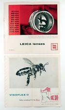 LEICA LENSES Brochure & VISOFLEX II Reflex Attachment for the Leica Brochure