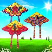 90x90CM Butterfly Printed Long Tail Kite Children Kids Outdoor Garden Fun Toy