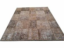 CUSTOM BROWN  vintage Overdyed Rug Handmade Turkish Patchwork Carpet rug