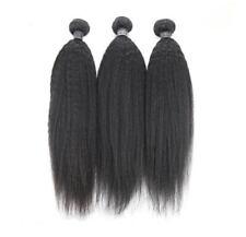 Brazilian YAKI Kinky Straight 100% Virgin Human Hair Extensions Weaves 16''*3