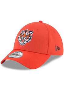 DETROIT TIGERS NEW ERA HAT 39THIRTY MLB BASEBALL PLAYERS ORANGE FITTED CAP