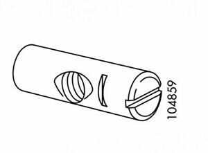 2 IKEA Cross Dowels / Barrel Nuts / Rods with Hole, Part # 104859 / 116562