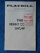 Perry Como Show - Valley Forge Music Fair Playbill w/Ticket - July 29th, 1976
