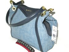 Michael Kors Raven Large Washed Denim Navy Pocket Shoulder Tote Handbag NWT $278