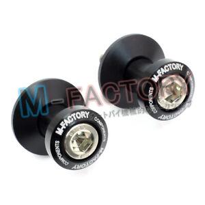 CNC BLACK 6mm Swingarm Spools Bobbins Fit Yamaha MT-09 / FZ-09 13 14 15 16 17