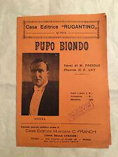 SPARTITO MUSICALE PUPO BIONDO MISCEL M. FAGIOLI F. LAY