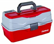 6383 Classic 3-Tray Tackle Box, Red/Gray