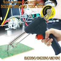 220V 60W Auto Welding Electric Soldering Iron Temperature Gun Solder Tool Kit &