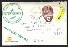 TONGA 1970's TIN CAN ISLD CANOE MAIL ON STEAMSHIP MARIPOSA PACIFIC FAR EAST LINE