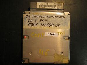 1998 LINCOLN CONTINENTAL 4.6L ECU/ECM #F80F-12A650-BD (F-2846)