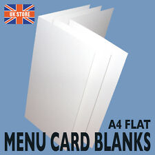 Tall Menu / Wine List Card Blanks, Print your own 14 different colours available