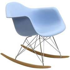 rocking lounge chair gamer plastic rocker nursery prenatal relaxation device blue