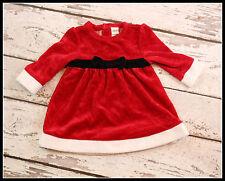Baby Girl Fall Winter Santa Christmas Red CHEROKEE BABY Church Dress 6m