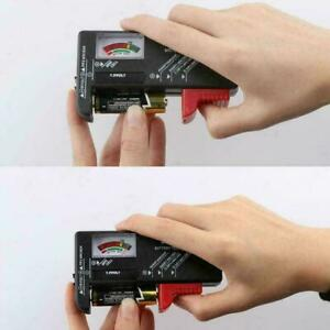 Portable Universal Battery Tester Tool AA AAA C D 9V x1 Button Checker NEW