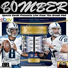 Baltimore Ravens 2015 Signature Series 8 Box Full Case Index Card Auto Break