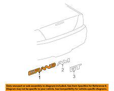 Pontiac GM OEM 99-05 Grand Am Door-Emblem Badge Nameplate 22657236