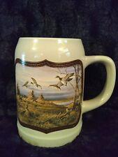 """Vintage Terry Redlin Tankard Mug Stein """"October Evening"""" 1997 Mallard Duck"""