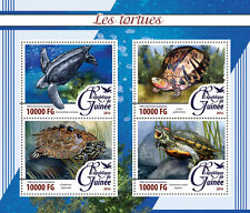 Guinea 2016 MNH Turtles 4v M/S Tortues Sea Turtle Reptiles Stamps