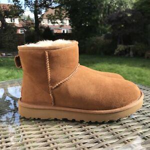 UGG Mini Chestnut Boots Uk Size 5.5