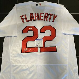 Jack Flaherty Signed Cardinals Home Jersey Autographed Auto PSA COA
