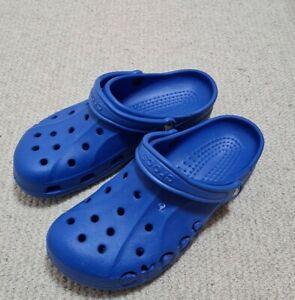 Crocs Mens Clogs ,size M10 W 12, Blue