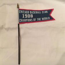"Chicago Cubs 1908 World Series Championship Replica Banner Mini Flag 7"" x 3"""