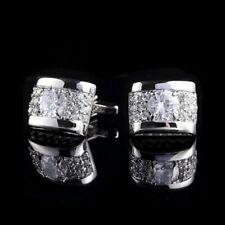 Silver Diamond Cufflinks UK Seller Brand New