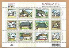 Ukraine - Historische Bauernhäuser postfrisch 2007 Mi. 902-907 Block 63
