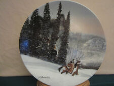 Julie Kramer Cole collector plate Wolf Ridge Camouflage Native Indian