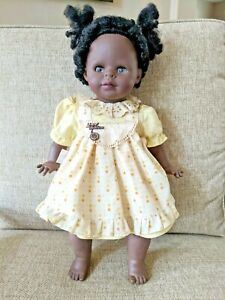 """Vintage Zaph Creations African American Doll #5511 Open Shut Eyes 23""""  RARE"""