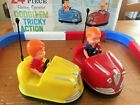 DODGE-EM TRICKY ACTION BATTERY OPERATED BUMPER CARS BY CRAGSTAN made in JAPAN