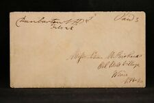 New Hampshire: Dunbarton 1854 Stampless Cover, Ms to Oil Mill Village, Weare