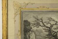 Giacomo Gamelin (1738-1803), Radierung Südliche Landschaft Italien Rom 1775