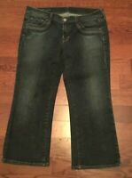 Citizens Of Humanity Sz 30 Willow Creek #098 Stretch Blue Wash Crop Capri Jeans