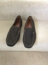 CLARKS Ladies Brown Suede Leather Loafers, UK Size 6.5
