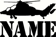 personalised helicopter, military army, door wall decal Vinyl Sticker, kids - uk