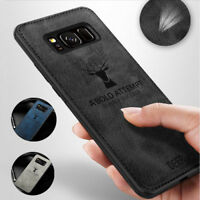 For Samsung Galaxy S8 S9 S10 J7 J8 A7 A9 A6 Soft Leather Skin Hybrid Cover Case